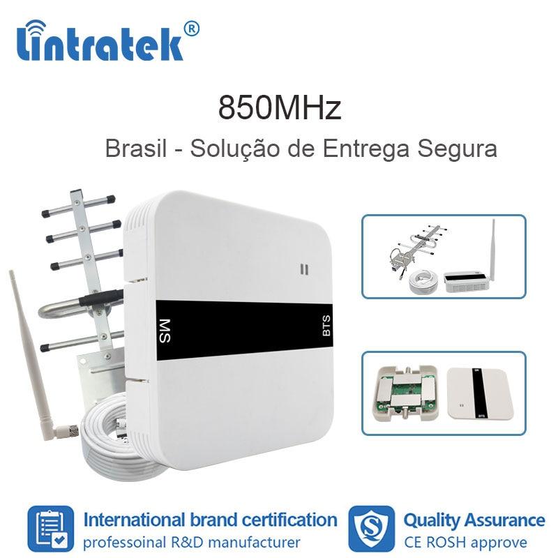 Lintratek 2G 3G CDMA 850 MHz Cellphone Signal Repeater Repetidor Celular 850 MHz Mobile Antenna FL