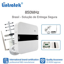 Lintratek 2G GSM 850 3G UMTS Repeater CDMA สัญญาณ Celular Repeater 850MHz Booster เสาอากาศโทรศัพท์มือถือบราซิลชุด FL