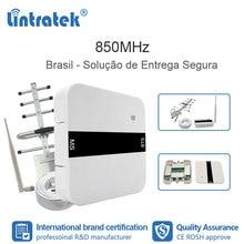 Lintratek 2G GSM 850 3G UMTS cep tekrarlayıcı CDMA sinyal Celular tekrarlayıcı 850MHz güçlendirici anten cep brezilya seti FL