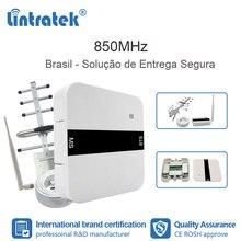 Lintratek 2G GSM 850 3G UMTS répéteur de cellules CDMA signal répéteur celulaire 850MHz booster antenne mobile brésil ensemble FL