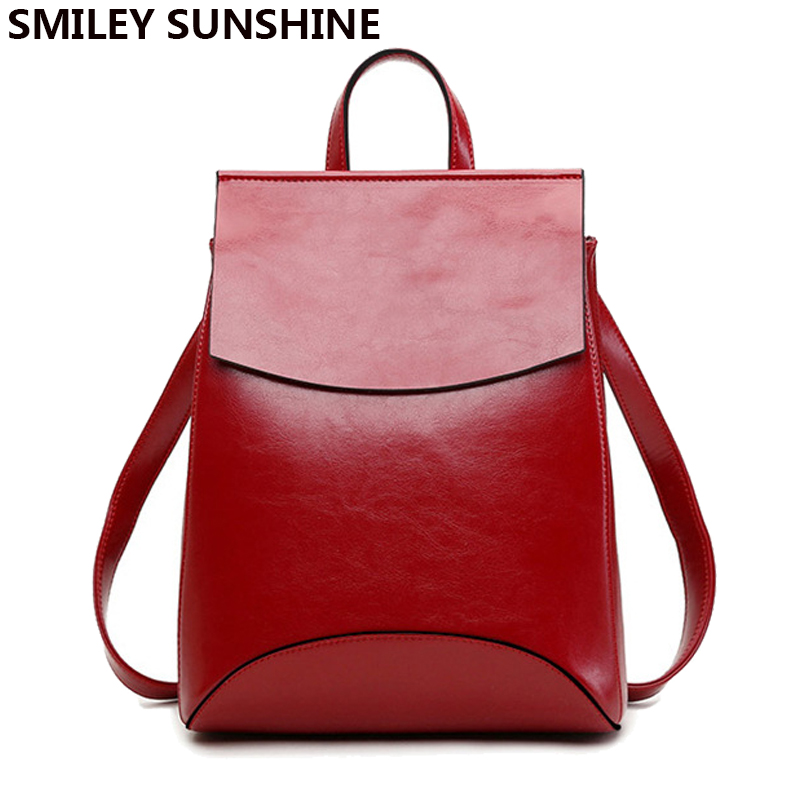 Fashion Leather Women Backpacks feminine Travel School Bag Backpack for Teenager Girls Female back pack Shoulder Bag sac a dos