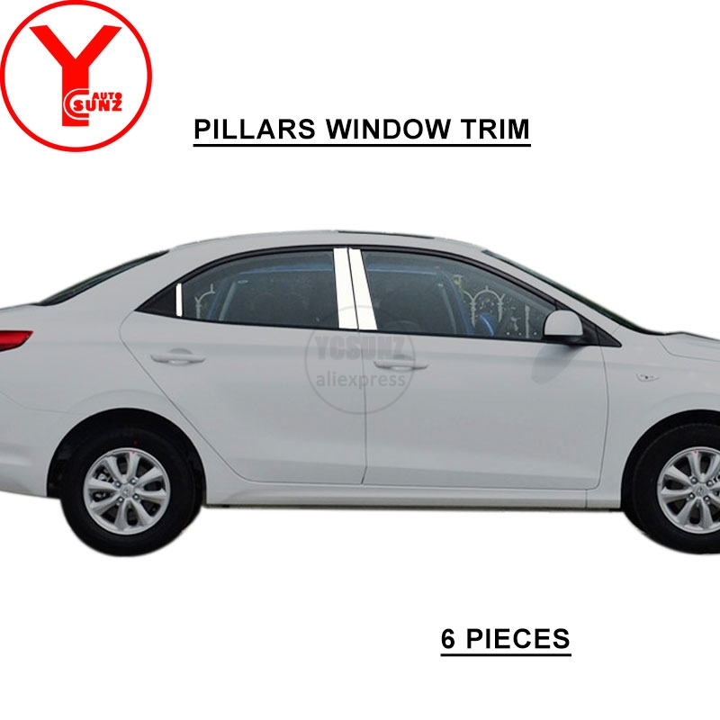 Bandes de garniture de fenêtre de voiture en acier inoxydable moulage pour hyundai accent accessoires 2018 style de voiture pour hyundai accent 2018 YCSUNZ - 4