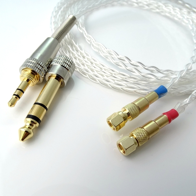 1.5m Litz braid 8 Cores 5n Pcocc silver plated Headphone Upgrade Cable for Hifiman He-5 He-6 He-400 He-500 He560