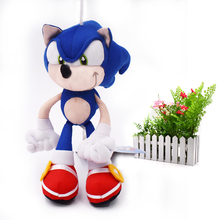 50 pcs/lot Blue Sonic Toy Cartoon Animal Stuffed  Plush Toys Figure Dolls Gifts For Kids 20 cm Christmas Gift