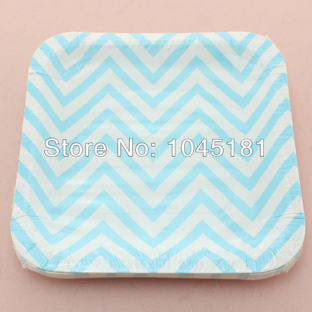 Disposable Blue Chevron Paper Cups Paper Straws Paper Plates for Party Supplies-in Event \u0026 Party from Home \u0026 Garden on Aliexpress.com | Alibaba Group  sc 1 st  AliExpress.com & Free Shipping!!! Disposable Blue Chevron Paper Cups Paper Straws ...