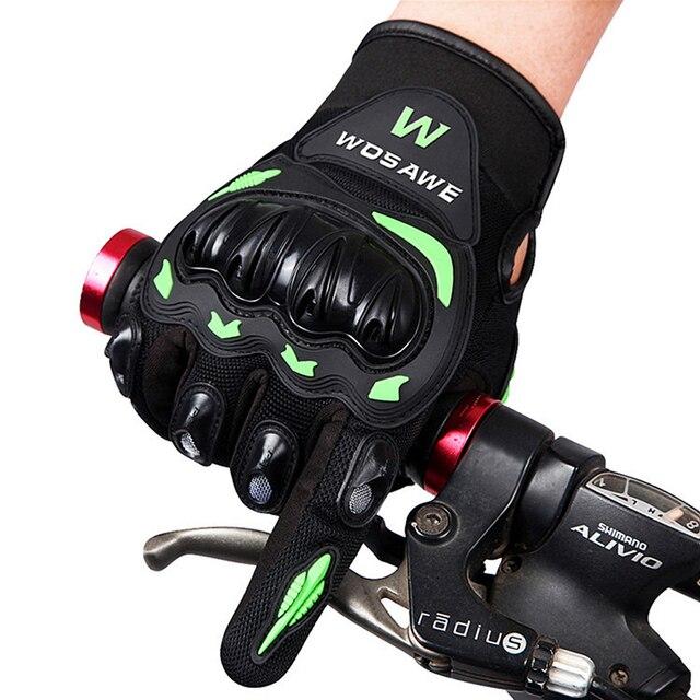Sport Bike Hand Gloves: WOSAWE Cycling Gloves Full Finger Men Winter Anti Shock