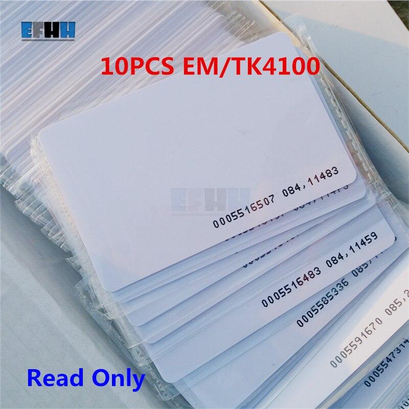 10Pcs/lot 125khz RFID Card EM4100 TK4100 Access Control Card ID Card Read Only