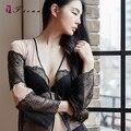 Nueva llegada sexy mujer vestido de noche lolita chica ropa de dormir súper sexy ropa interior de encaje ropa interior de mujer cuello en V XD1070