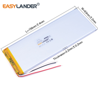 3263156 3 7V 4800mAh Rechargeable Li Polymer Li Ion Battery For Power Bank Tablet PC CHUWI