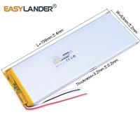 3263156 3 7V 4800mAh Rechargeable Li Polymer Li Ion Battery For Power Bank Tablet PC CHUWI