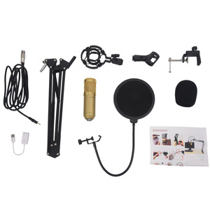Image 3 - Professional BM800 Mikrofon Condenser Sound Recording With  Mount For Recording KTV Karaoke Microphone Mic Stand For Computer