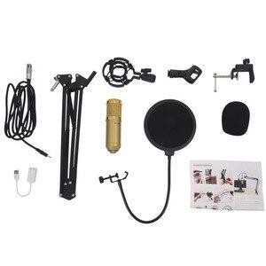 Image 3 - Profesyonel BM800 Mikrofon kondenser ses kayıt için montaj ile kayıt KTV Karaoke Mikrofon Mikrofon standı bilgisayar için