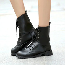 2019 Boots Women Genuine Leather Shoes For Winter Woman Casual Spring Botas Mujer Female Ankle