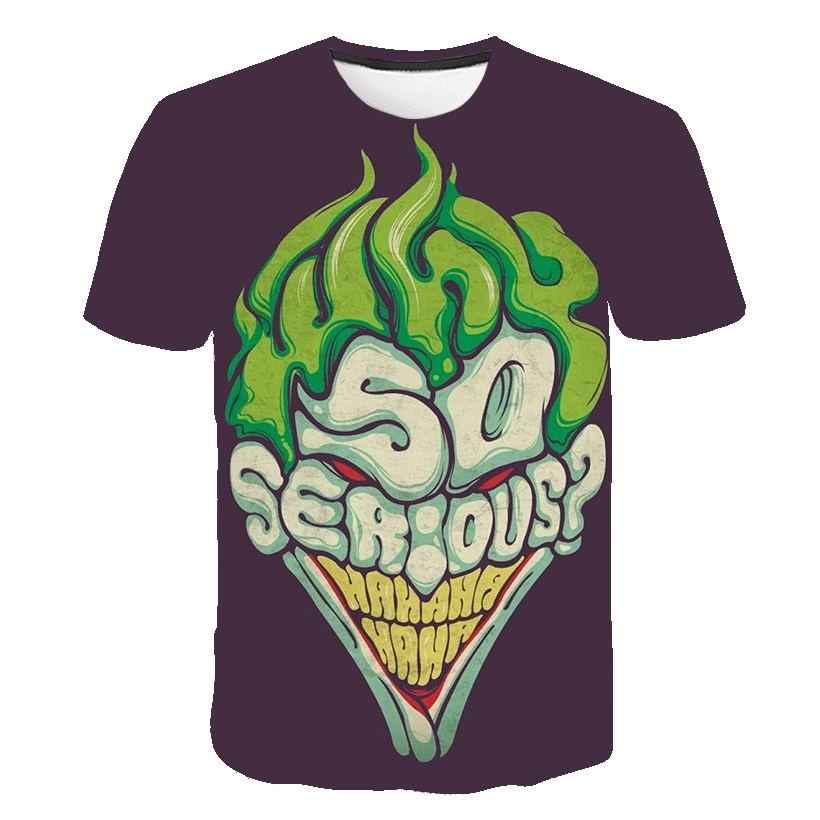 Бэтмен Джокер DC комиксы супергерой 3D принт футболка для женщин и мужчин летний Стиль Футболка Homme Харли Куинн Carnage шутливые футболки наряд