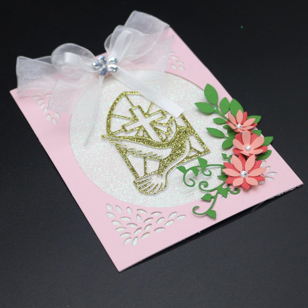 Pigeon Cross Metal Steel Cutting Dies Stencils Scrapbooking Craft Die 3D Stamp DIY Festival Card Making Photo Decoration 2019 in Cutting Dies from Home Garden