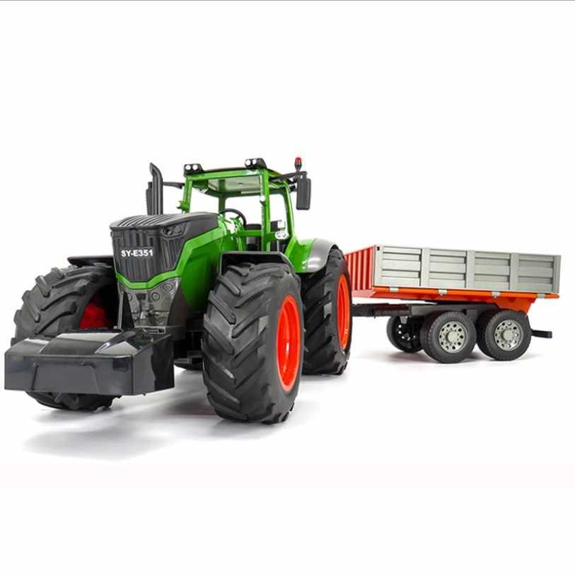 RC Traktor Pertanian Remote Control Trailer Dump/Rake 1:16 Simulasi Truk Kendaraan Konstruksi Mainan