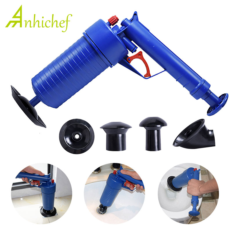 Home & Garden Pipe Plunger Drain Cleaner High Pressure Compressed ...