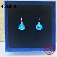 2019 ss new anti allergic 925 sterling silver hoop earrings women Austria Crystal ladies earrings CARA0199