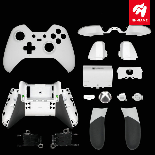 Replacement For Xbox One Elite Controller Rear Handle Rubberised Grips  Battery Backside Cover LB RB Bumper Trigger Buttons