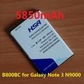 5850 mah b800bc batería b800bu b800be para samsung galaxy note 3 n9000 n9005 n900a n900 n9002 n9006 n9008 n9009 n9008v n9008s
