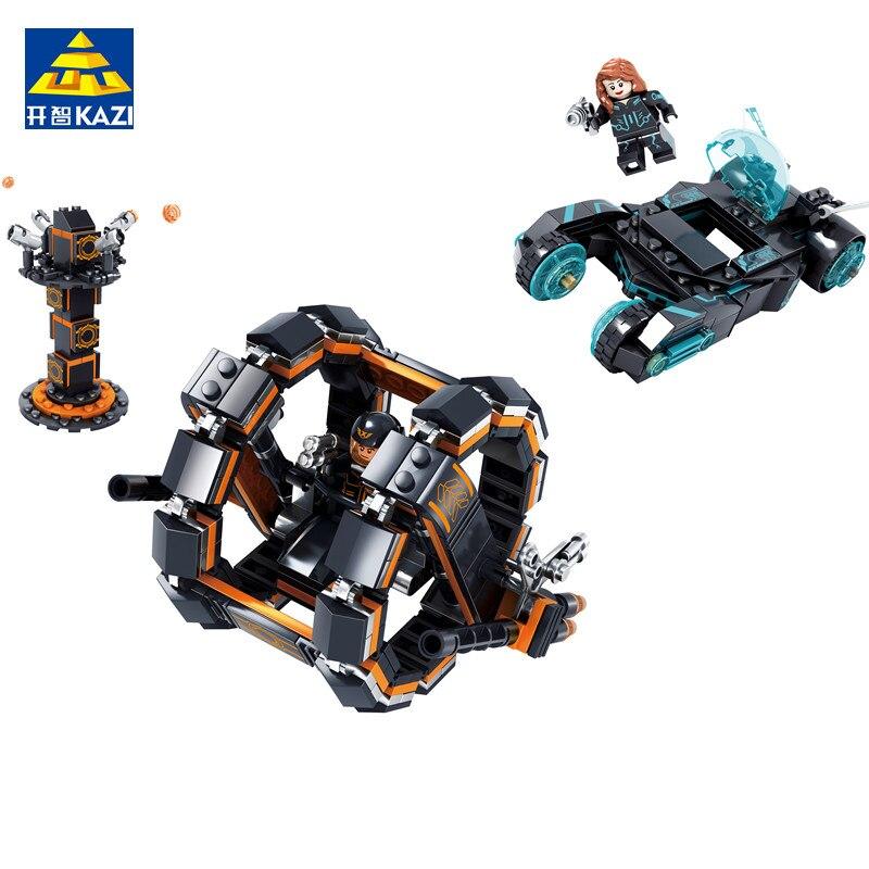 Kazi 794pcs City War Science Fiction Helicopter Motorcycle Action Figure Building Blocks Bricks Playmobil Toys For Children Model Building