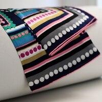 Bohemian Print Large Square Silk Scarf Shawl High Quality 100% Soft Satin Silk Scarfs Wraps Hand Rolled Edges 88x88cm