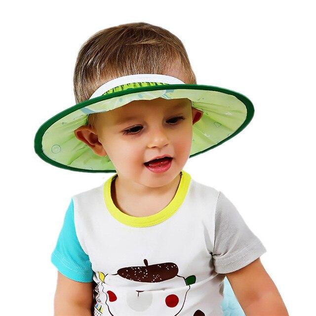1PC Adjustable Baby Hair Wash Cap Protect Face Shampoo Bath Kids Shower Hat  Caps Cute Bathroom 9b481da0bf0