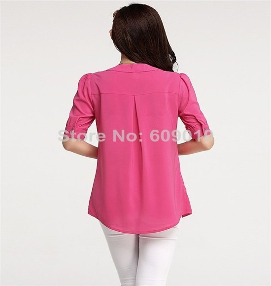 большой размер S-ххl дамы лето Chef блузки новое постулат лето с рукавом Chef Cook Берман блузка бесплатная доставка 302001