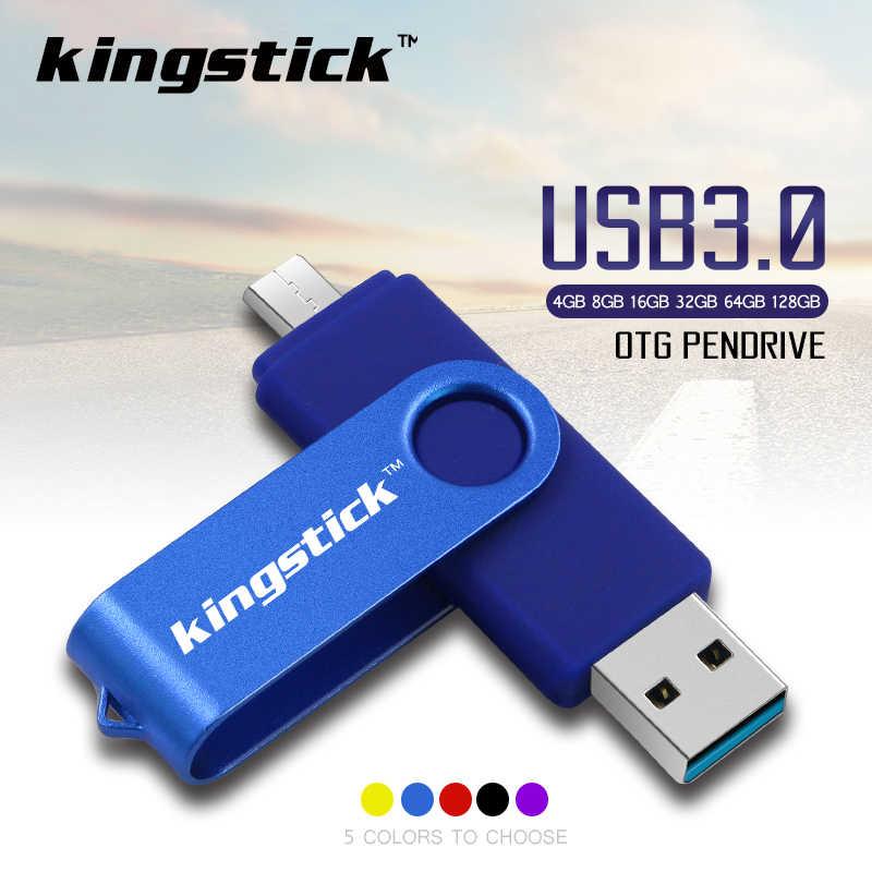 عالية الجودة OTG USB 3.0 القلم محرك 32 جيجابايت 64 جيجابايت 128 جيجابايت محرك فلاش USB 8 جيجابايت 16 جيجابايت مفتاح USB عصا بندريف للهواتف الذكية أندرويد
