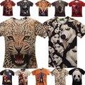 ¡ Promoción!!! envío libre la montaña 3D Hombres Mujeres Pintura de la camiseta de la camiseta del Desgaste de impresión personalizada 3d Animal Print Camisetas