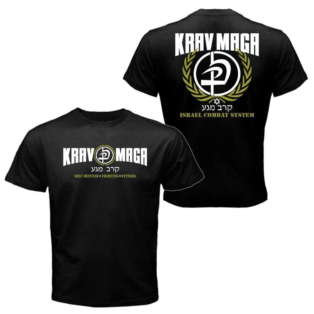 New Krav Maga Israel Combat System Self Defense IDF MMA Martial T shirt Tee  Black / White /Army Green 100% Cotton Tee Shirt