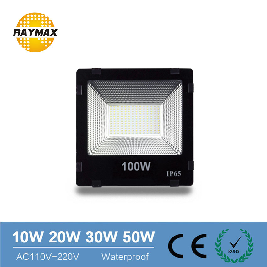 Reflector LED de gran alcance Luz de inundación exterior 220v 230v IP65 10W 20w 30w 50w 70w 100w 200w 300w 300w reflector de la lámpara a prueba de agua