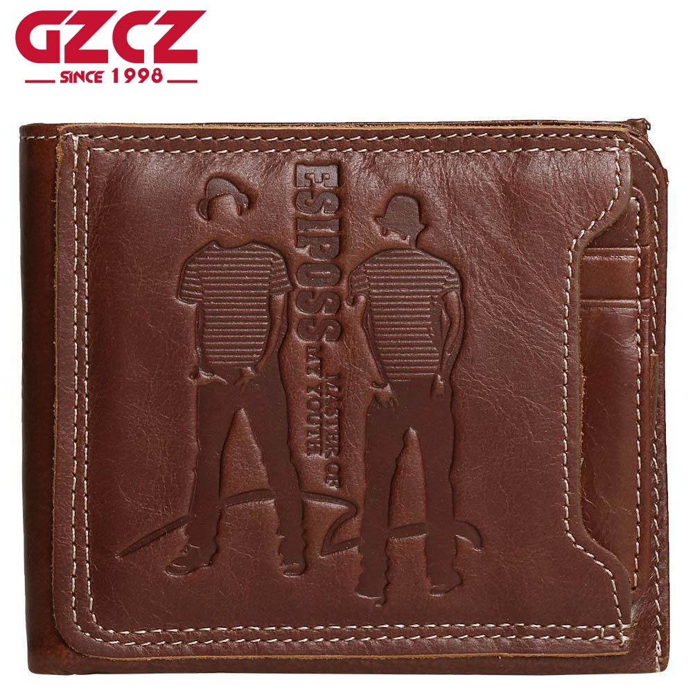 GZCZ Famous Luxury Brand Genuine Leather Men Wallets with Card Holder Casual Men's Leather Walet Case Purse portfolio cartera gzcz famous luxury brand genuine leather men wallets with card holder casual men s leather walet case purse portfolio cartera