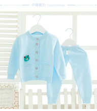 Outfit Long Sleeve Knitted Cardigan Baby boys/women Sweater+Pants Clothes Set Toddler Baby go well with Infant Winter Baby Clothing