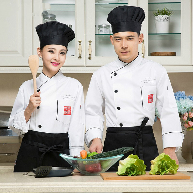 New Arrive Unisex Chef Jacket Coat Chef Uniform Kitchen Men Women Long  Sleeve Cooker Work Restaurant Hotel Cooker Workwear|chef jacket|chef  uniformkitchen uniform - AliExpress