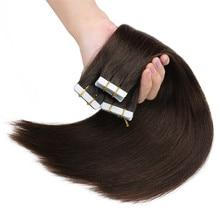Накладные пряди волос для наращивания, пряди на клейкой основе, невидимые, Платиновые, блонд #613 40 г/компл.