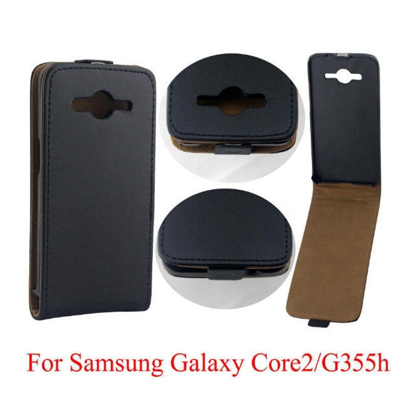 fbbdb0e2c4d Vertical funda capa fundas capa para Samsung Galaxy core2 g355h cubierta funda  TPU up-Abrigos de plumas piel abierta bolsa de teléfono móvil