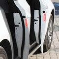 4 шт./компл. Отражающей Предупреждающие Наклейки Двери Английский Письмо Стайлинга Автомобилей Для VW Audi Ford Focus, Chevrolet Cruze Skod Гольф 6а