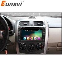 Eunavi 2 DIN Android 6.0 dvd-плеер автомобиля GPS для Toyota Corolla 2007 2008 2009 2010 2011 8 дюймов 1024*600 экран стерео радио