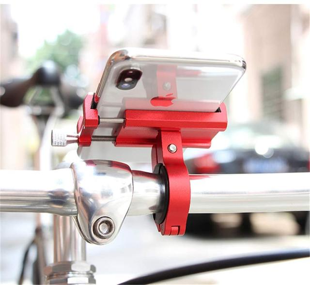 """Aluminum Alloy Bicycle Phone Holder Motorcycle Handlebar Mount for 3.5-6.2"""" Smart Phone for iPhone  Xs Max Xr X 8 Samsung Xiaomi 3"""