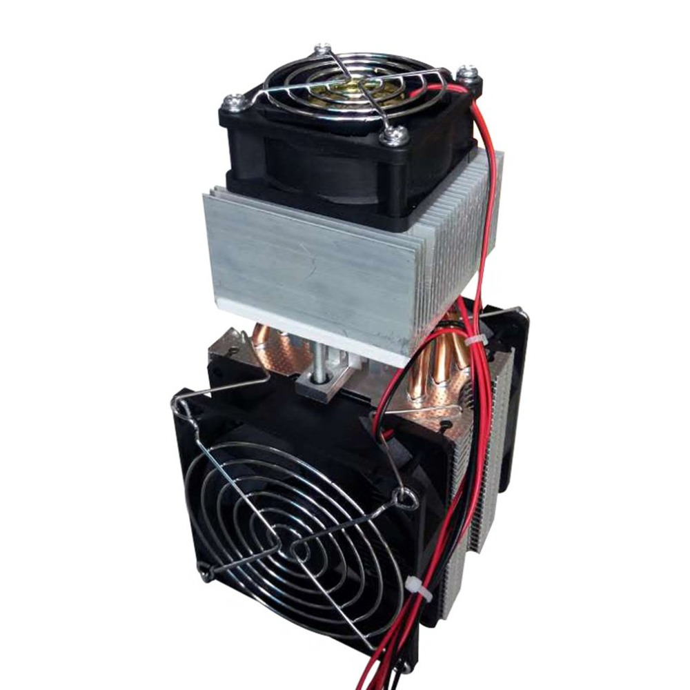 12V Refrigeration Semiconductor Refrigeration Electronic Semiconductor Cooler 72W DIY Cooling System Fan Computer Components