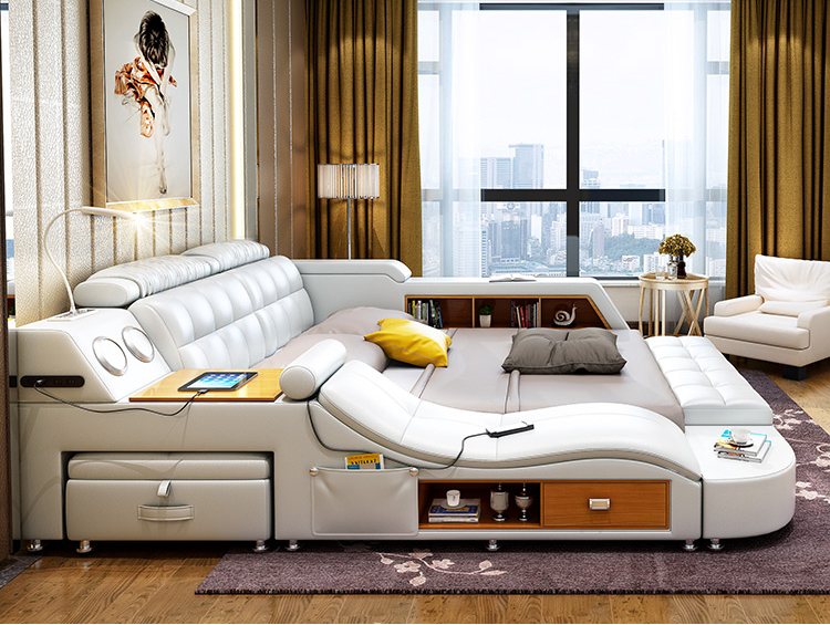 South Africa Furniture All In One Hot Selling Modern Leather Bed