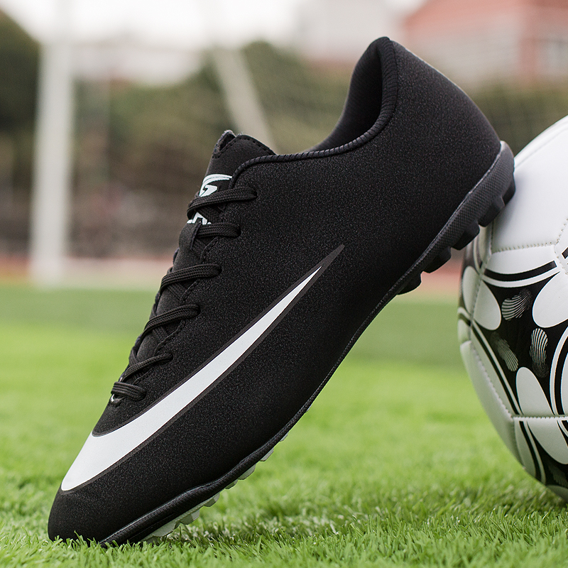 YRRFUOT Men Long Spikes Soccer Shoes High Quality Outdoor Turf Futsal Soccer Shoes Ankle High Top Sneakers Chuteira Futebol   44 Soccer Shoes     - title=