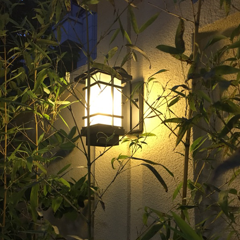 wall lamp, outdoor waterproof lamps and lanterns, wrought iron retro corridor contracted Japanese balcony wall lamp industrial lamps and lanterns of wind loft balcony corridor creative american restaurant wall lamp wrought iron bar counter