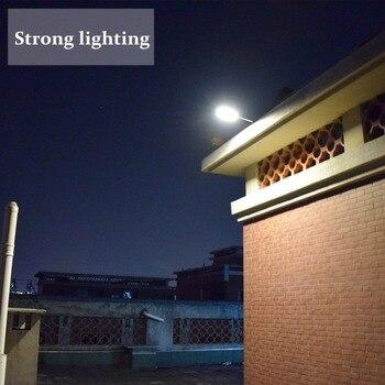70 LED Solar Street Light With Remote Controller 5 Modes Motion Sensor Street Lamp  Waterproof Super Bright Solar Garden Light 6