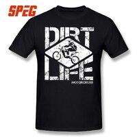 DIRT LIFE Motocross Motorcycle Men T Shirt Short Sleeved Vintage Printing Summer Tee Shirt 100 Cotton