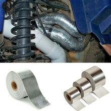 Cool Tape Roll Exhaust Aluminized fiber Heat Wrap Barrier Motorcycle CAR Motocross ATV UTV