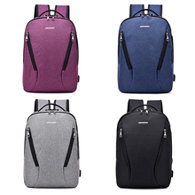 Anti Theft Password Lock Bag USB Charging Backpack With Headphone