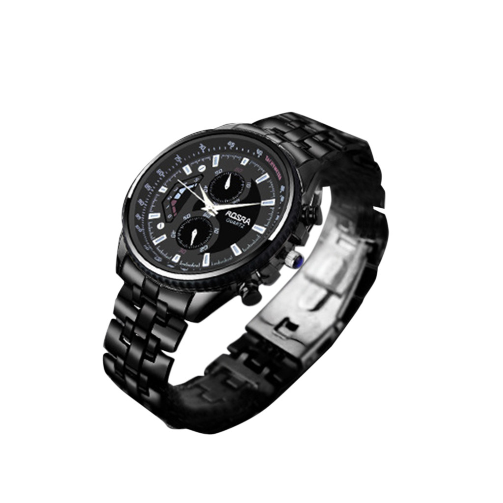 Man Crystal Stainless Steel New Men Watches Sport Watches Fashion Fitness Digtal Black Stainless Steel Wristwatch 0618