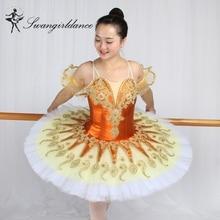 2017 new ! Adult women gold yellow pancake tutu professional queen ballet girls classical Ballerina tutus BT9134